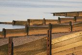 picture of herne bay beach  - Wooden breakwaters on beach - JPG