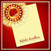 stylish vector rakhi background with space for your text