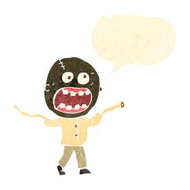 foto of madman  - retro cartoon crazy madman - JPG