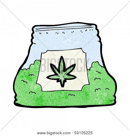 cartoon bag of weed