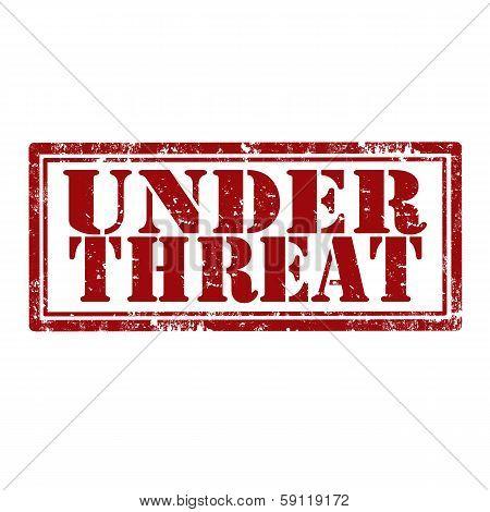 Under Threat-stamp