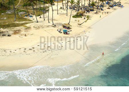 A beutiful beach in the caribbean