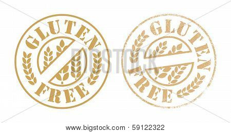 Gluten free rubber stamp ink