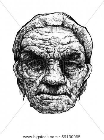 Greybeard. Hand drawn. Jpeg version.