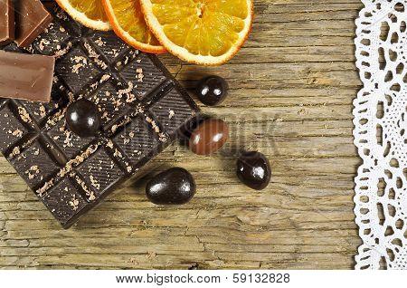 Chocolate and dried orange