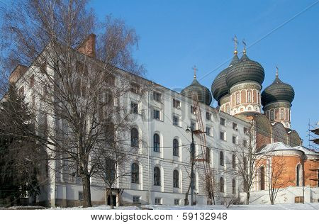 South Soldiers' Quarters And Intercession Cathedral In Winter, Izmaylovo Estate, Moscow, Russia