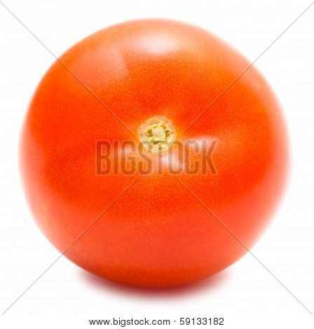 Tomato Front Isolated On White