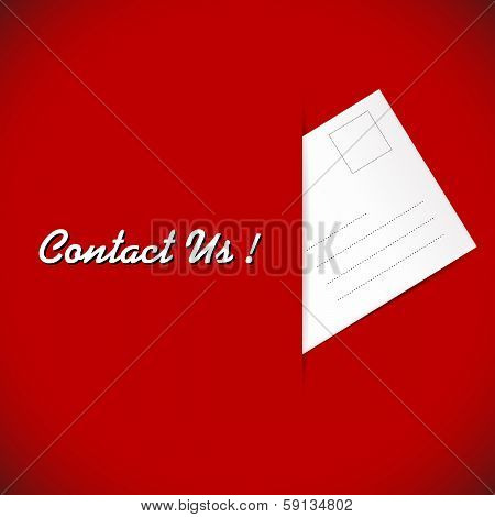 Post Envelope On The Red Background