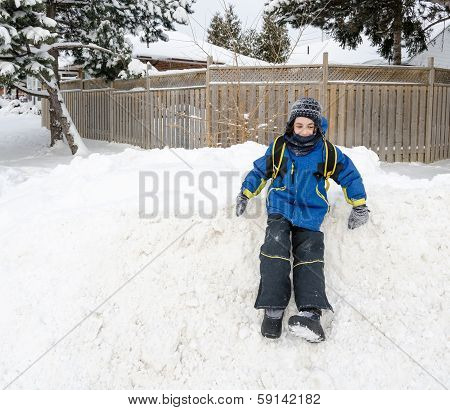 Child Having Fun During Winter