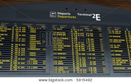 Airport Departure Board