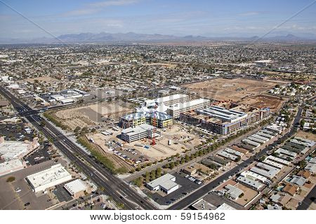 Construction Of Buildings At Skysong In Scottsdale, Arizona