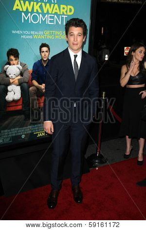 LOS ANGELES - JAN 27:  Miles Teller at the