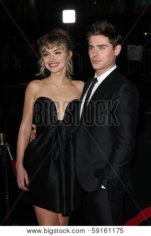 LOS ANGELES - JAN 27:  Imogen Poots, Zac Efron at the