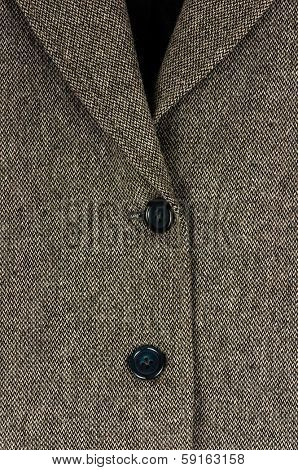 Tweed suit closeup