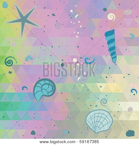 Abstract Sea Background With Pearl Effect Colors
