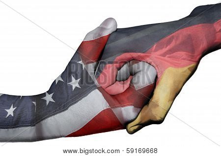Handshake Between United States And Germany