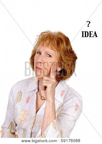 woman with an idea isolated over white