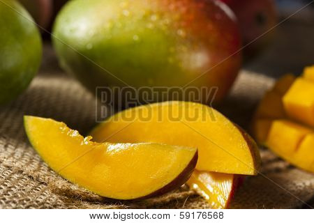 Organic Colorful Ripe Mangos