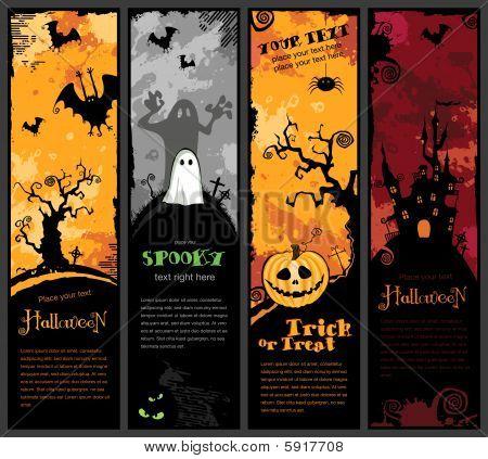banners verticais de Halloween