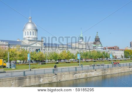MONTREAL, CANADA, OCTOBER 12, 2013 - Bonsecours Market. This suberb building was inaugurated in 1847, serving as a parliament and city hall.