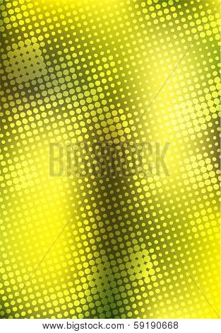 abstract yellow halftone background design stock vector