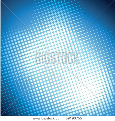 abstract blue halftone background design stock vector