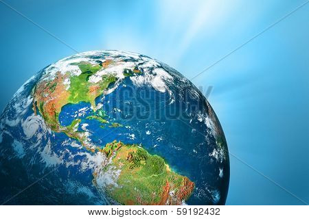 Planet earth.  Best Concept of global business from concepts series.(Elements of this image furnished by NASA- earthmap http://visibleearth .nasa.gov)