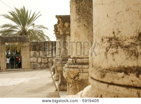 Synagogue Ruins in Capernaum,Israel