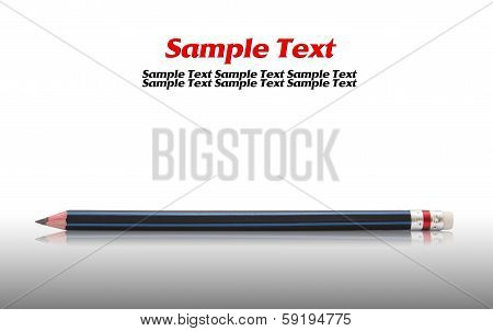 Pencil isolated on reflect floor and white background