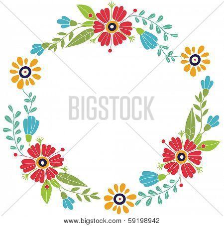 Flower frame. Designed for invitations for the holidays