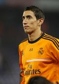 BARCELONA - JAN, 12: Angel di Maria of Real Madrid during the Spanish League match between Espanyol