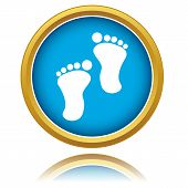 stock photo of carbon-footprint  - New footprints icon on a white background - JPG