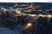 picture of goreme  - Sunset in Goreme. Cappadocia. Turkey. September 2013