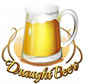pic of draught-board  - Illustration of a draught beer label on a white background - JPG