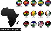 Country Buttons Africa