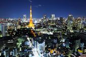 picture of kanto  - Tokyo ciy at night - JPG