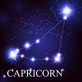 Capricorn zodiac sign of the beautiful bright stars