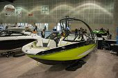 Boat On Display At The Los Angeles Boat Show On February 7, 2014 At The L.a. Convention Center In Lo