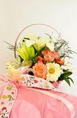 Gift And Flower Arrangement