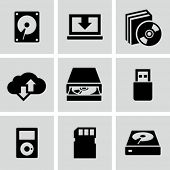 Data storage icons