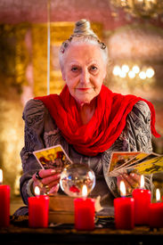 picture of oracle  - Female Fortuneteller or esoteric Oracle - JPG