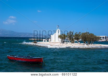 Traditional Chapel On Naxos Island In Greece