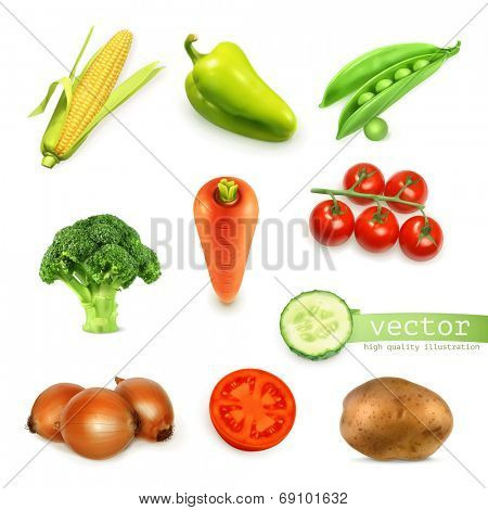 Vegetables set, vector illustration
