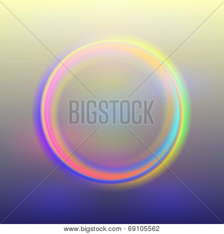 Vector abstract background with bright neon lighting circle