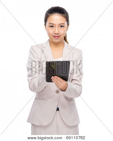 Asian businesswoman use tablet