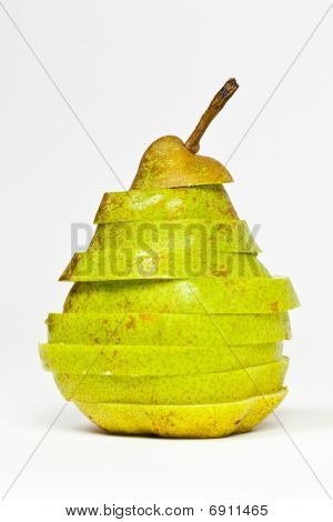 Sliced Green Pear