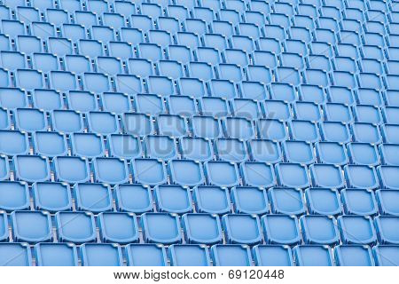 Blue Seat In Sport Stadium