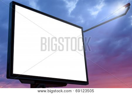 Billboard At Sunset With Blank Copy Space