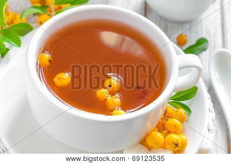 Herbal tea with hawthorn