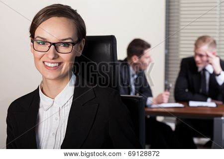 Businesswoman And Co-workers